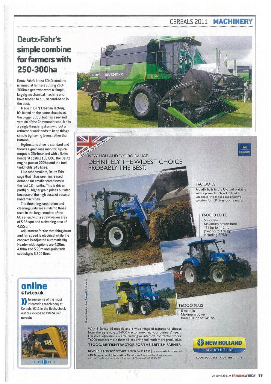 Deutz-Fahr's simple combine for farmers with 250-300ha