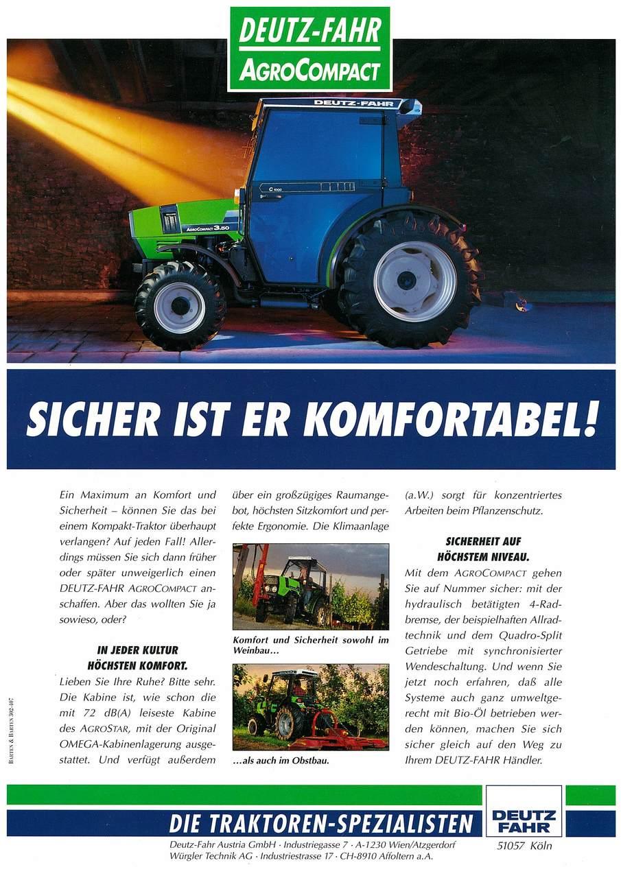 AGROCOMPACT - SICHER IST ER KOMFORTABEL