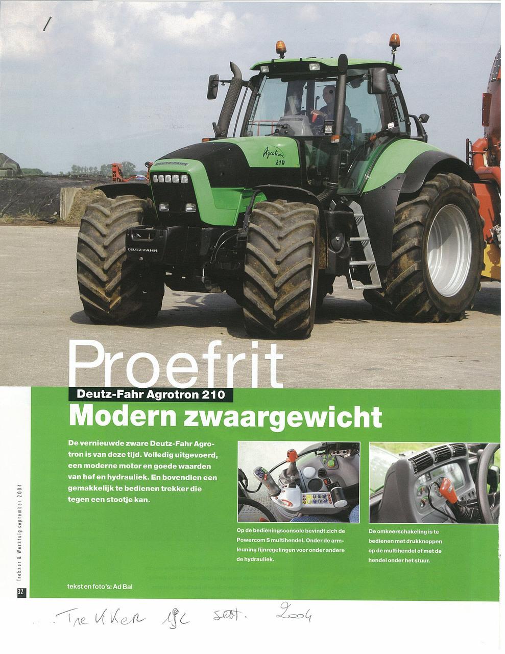 Proefrit: Deutz-Fahr Agrotron 210. Modern zwaargewicht