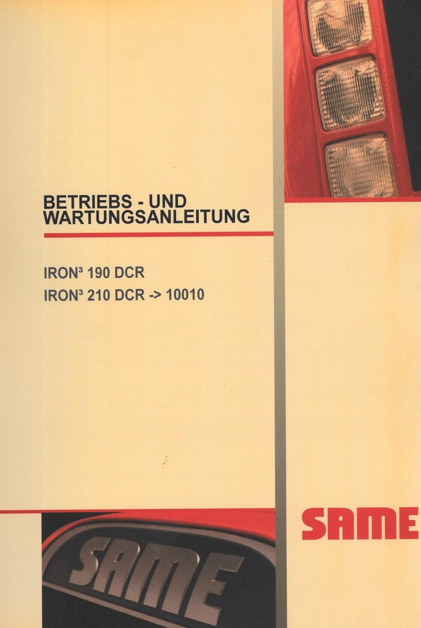 IRON³ 190 DCR - IRON³ 210 DCR -> 10001 - Betriebs - und Wartungsanleitung