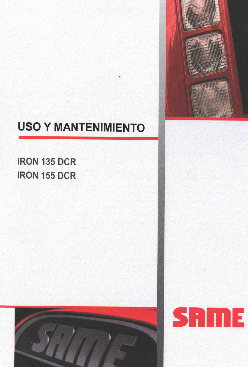IRON 135 DCR - IRON 155 DCR - Uso y mantenimiento
