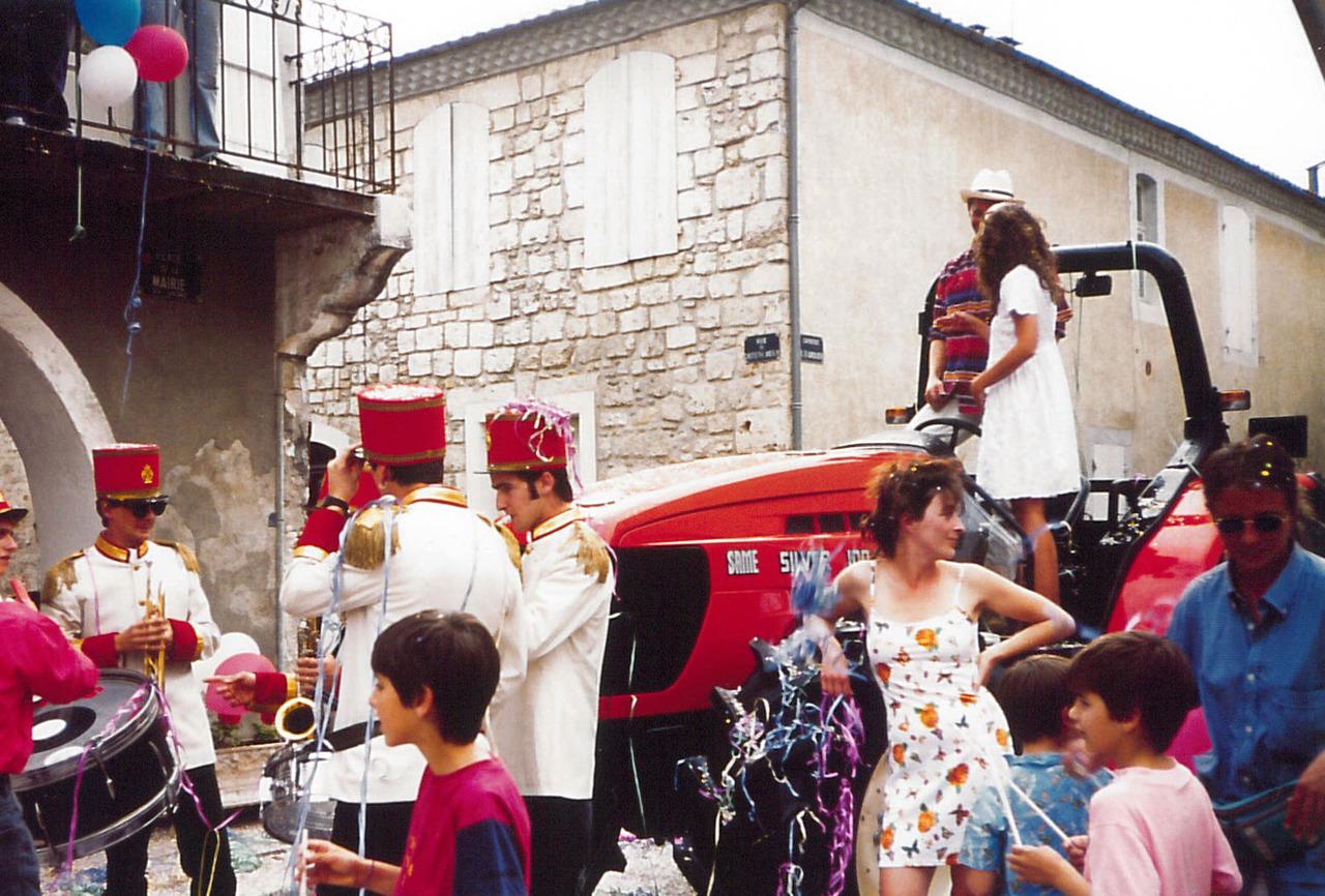Backstage Calendario SAME 1996 per la Francia