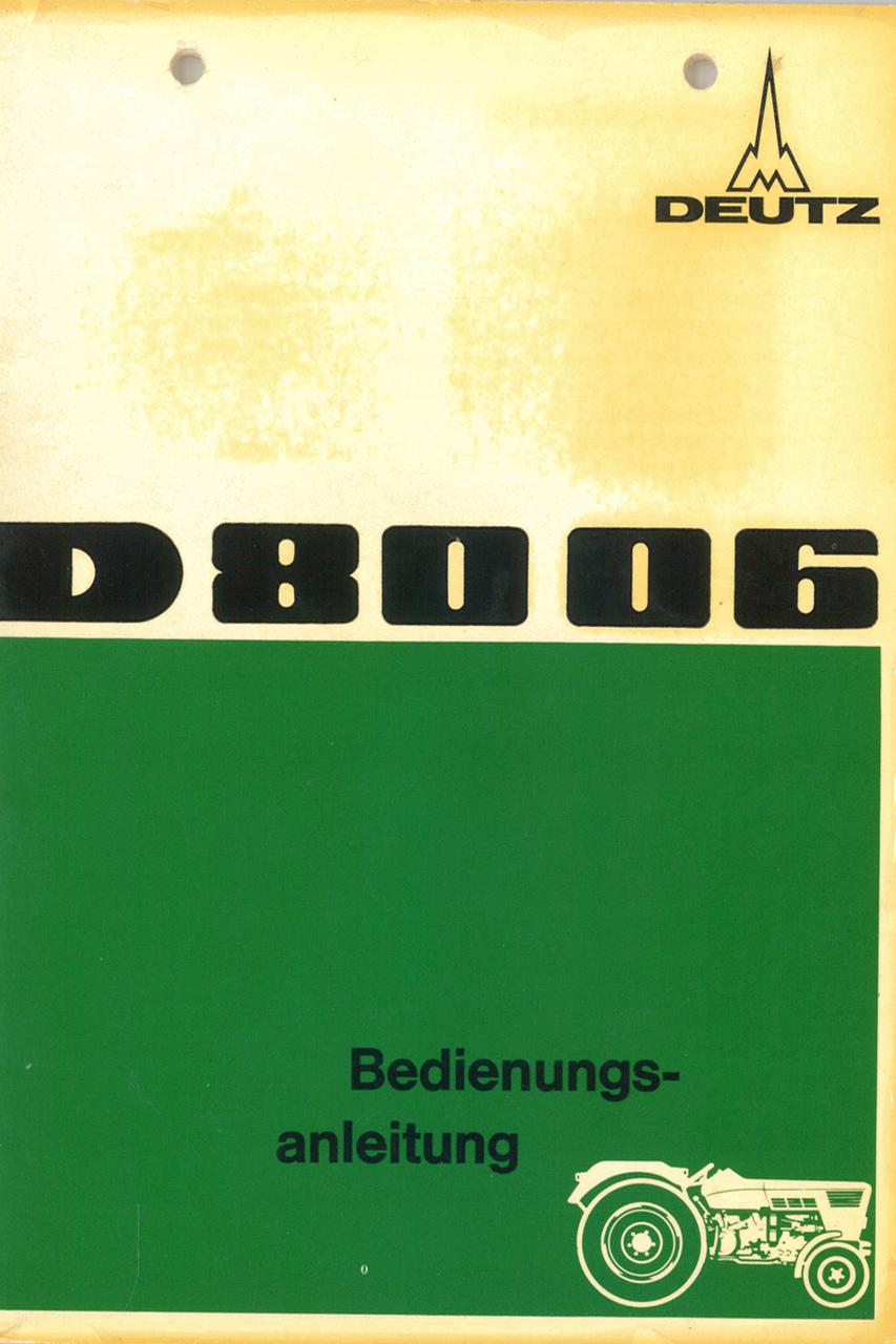 D 80 06 - Bedienungsanleitung