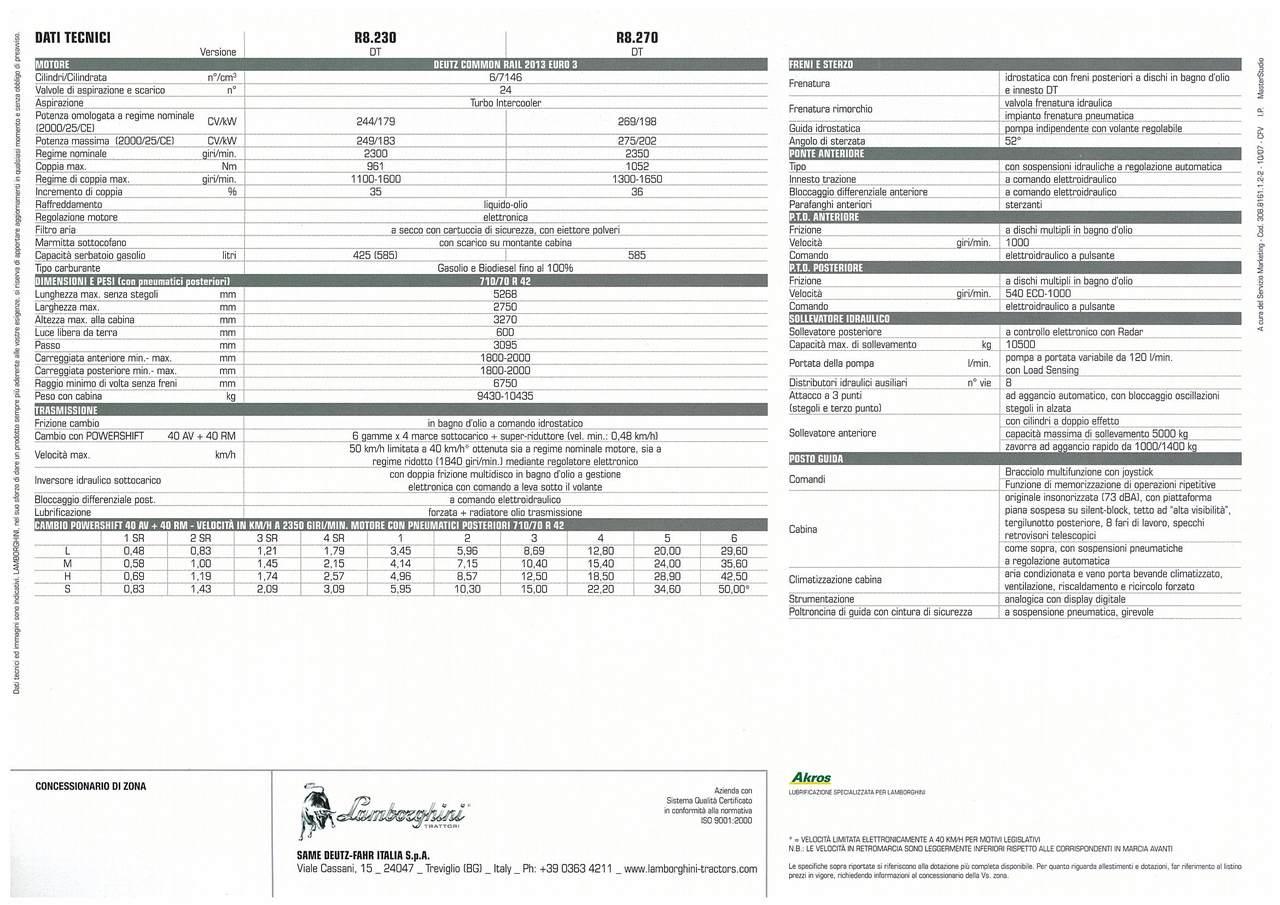 R8 230- 270