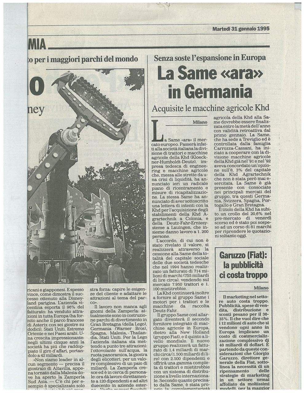 "La SAME ""ara"" in Germania"
