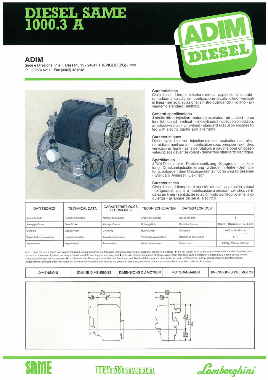 Motore 1000.3 A