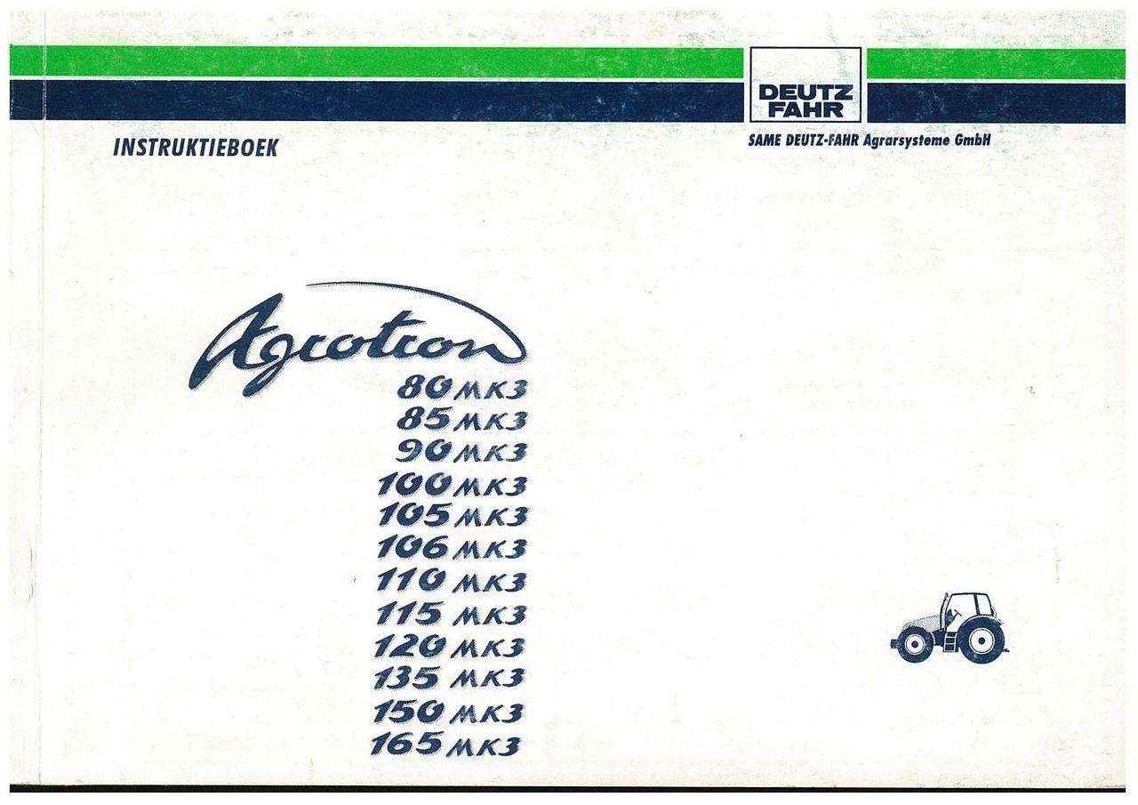 AGROTRON 80-85-90-100-105-106-110-120-135-150-165 MK3 - Gebruik en Onderhoud