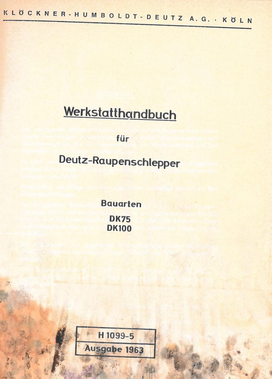 DK 75 - DK 100 - Werkstatthandbuch