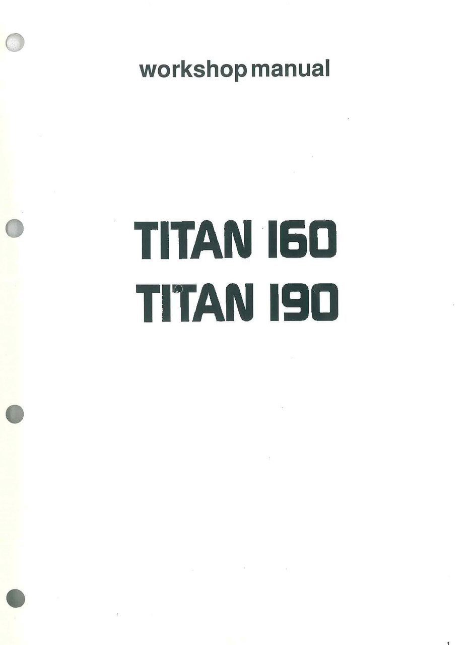 TITAN 160 - 190 - Workshop Manual