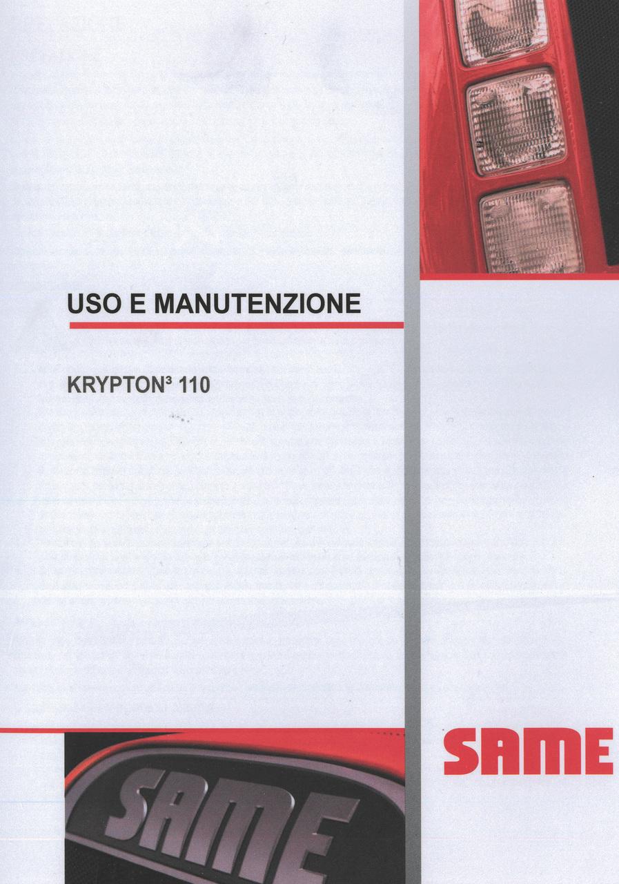 KRYPTON³ 110 - Uso e manutenzione
