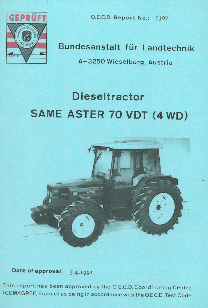 Report test of SAME Aster 70 VDT (4WD)