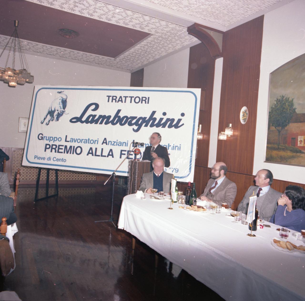 Gruppo Lavoratori Anziani Lamborghini, Premio fedeltà 24-12-1979
