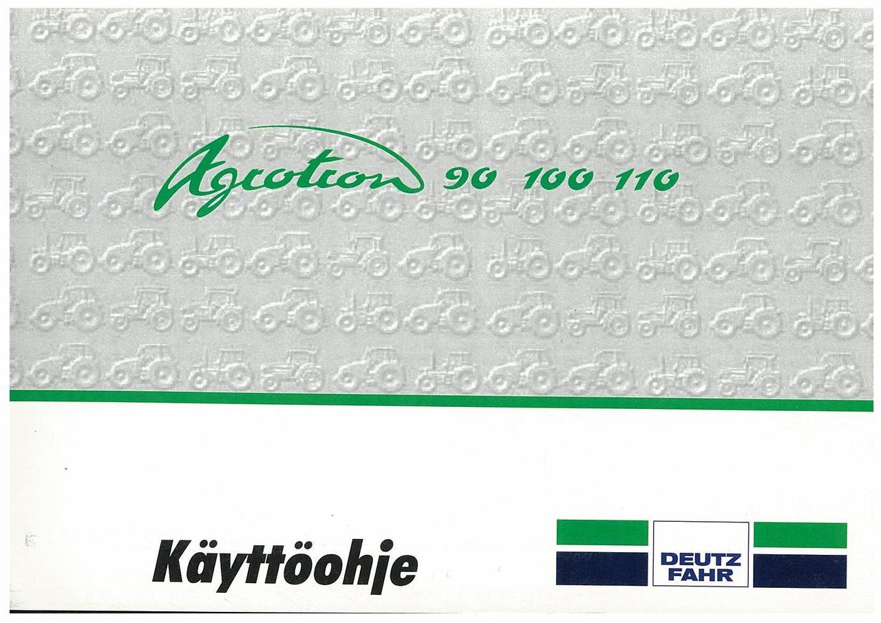 AGROTRON 90-100-110 - Käyttöohje
