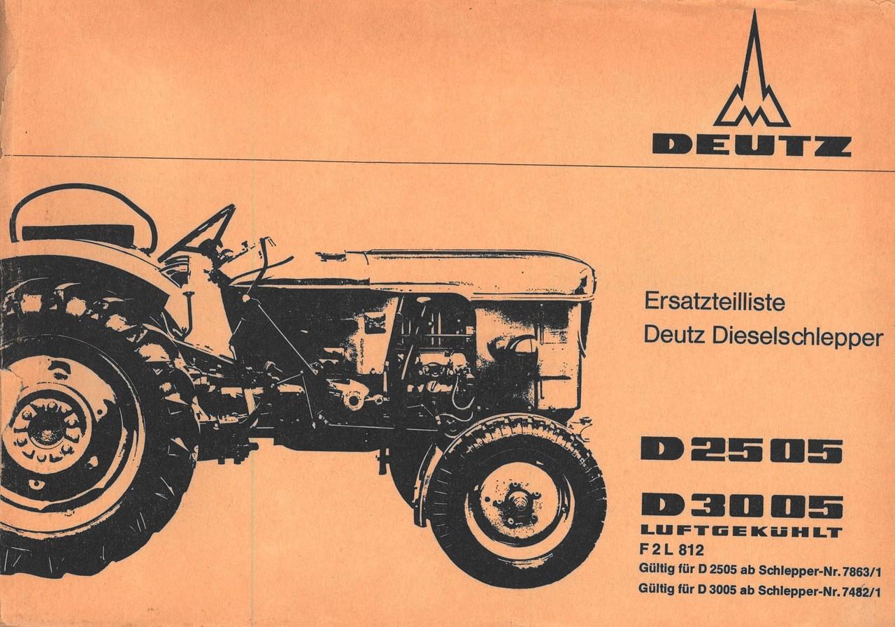 D 2505 - D 3005 - Ersatzteilliste
