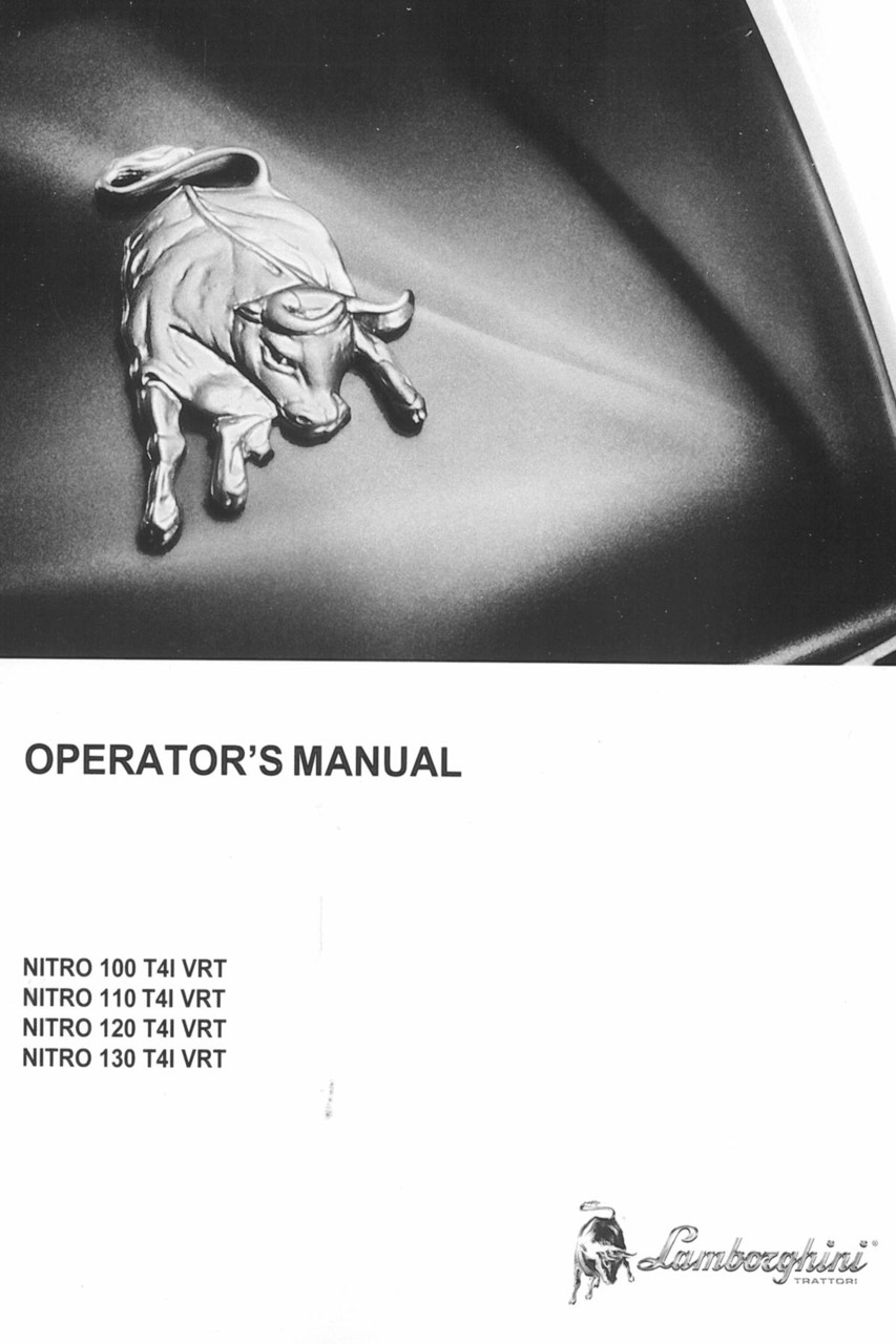 NITRO 100 T4I VRT - NITRO 110 T4I VRT - NITRO 120 T4I VRT - NITRO 130 T4I VRT - Operator's manual