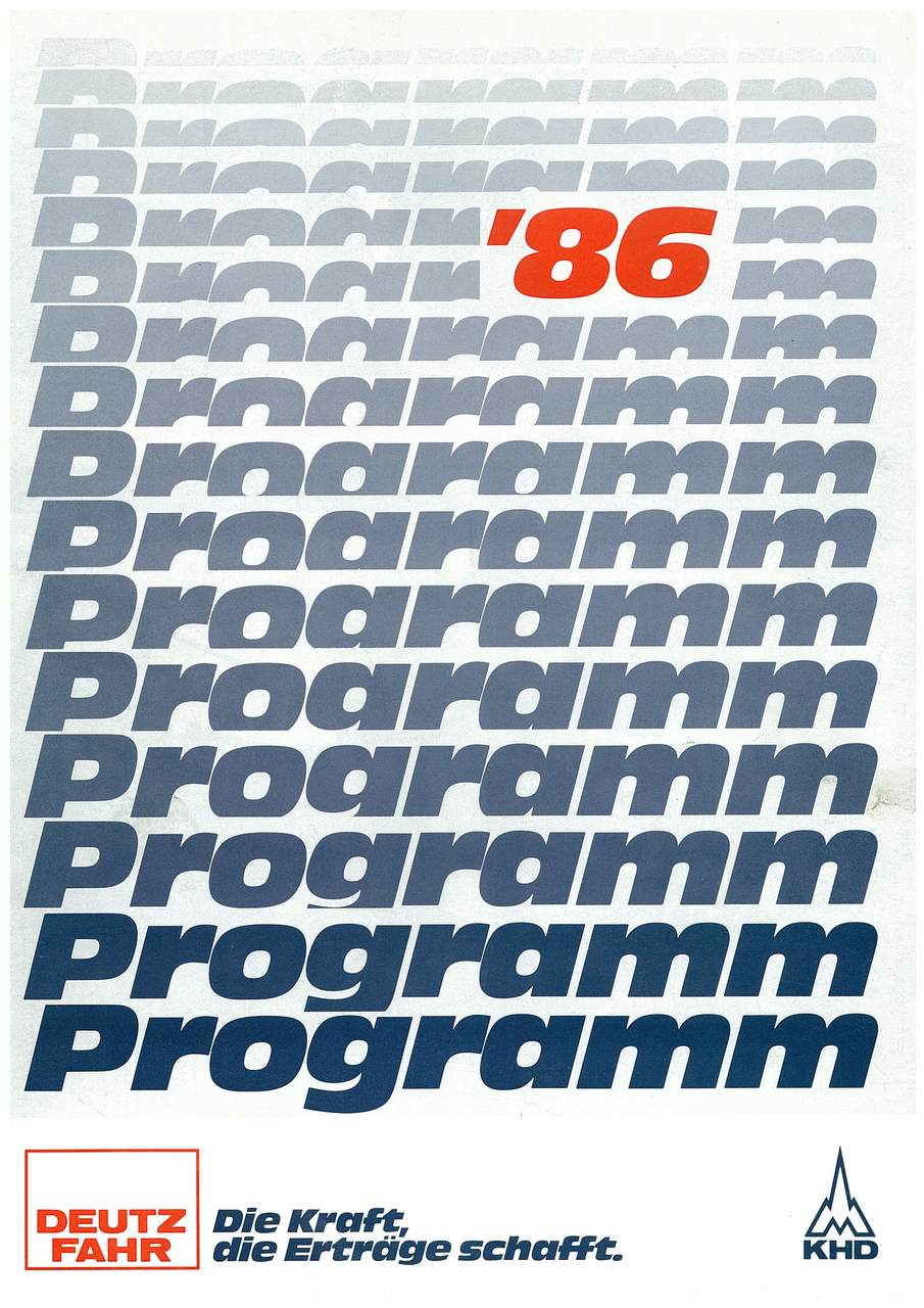 DEUTZ-FAHR PROGRAMM '86