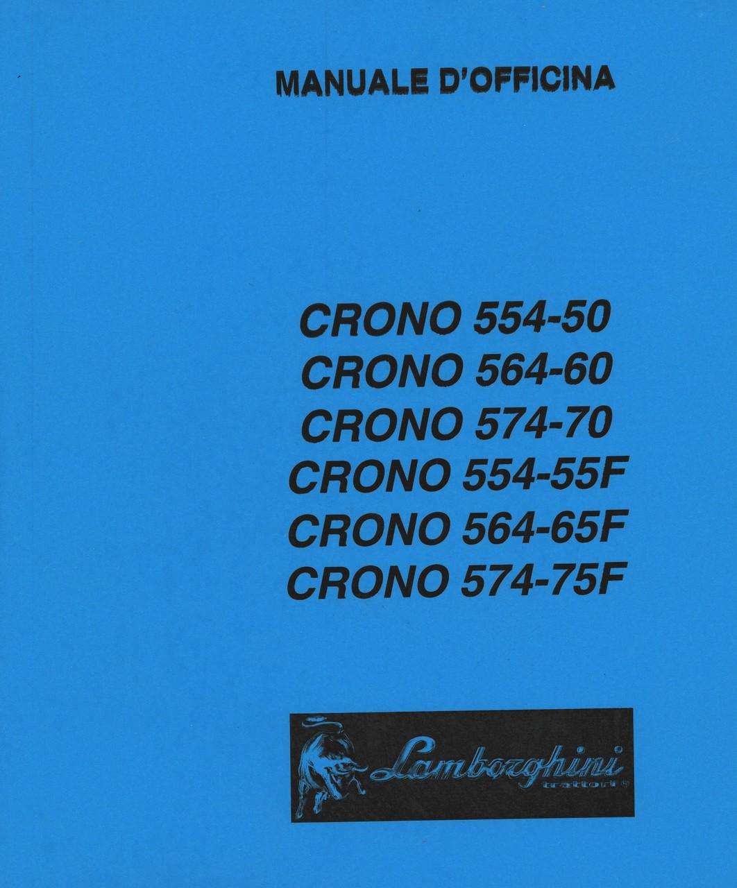 CRONO 554-50 - CRONO 564-60 - CRONO 574-70 - CRONO 554-55 F - CRONO 564-65 F - CRONO 574-75 F - Manuale d'officina