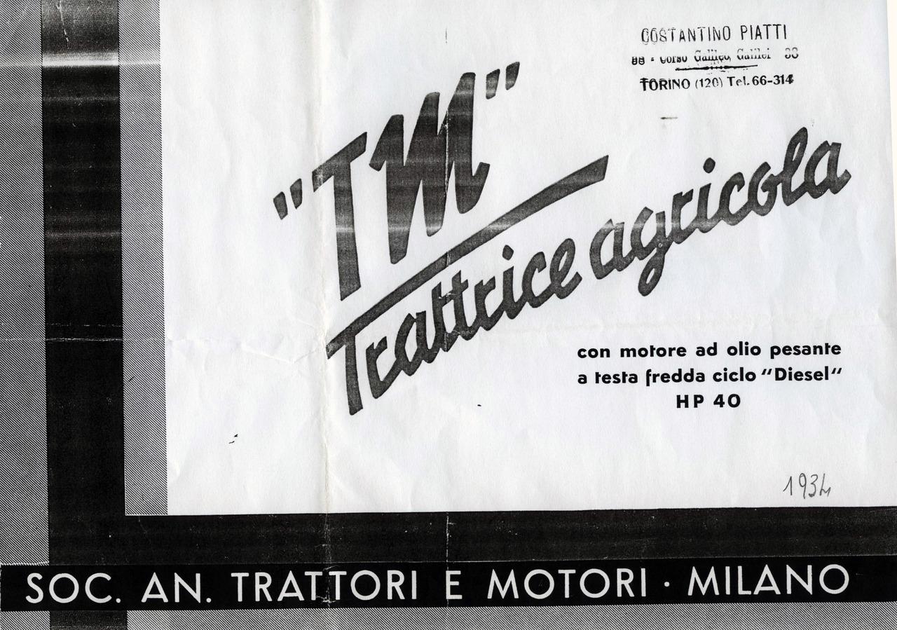 """TM "" trattrice agricola"