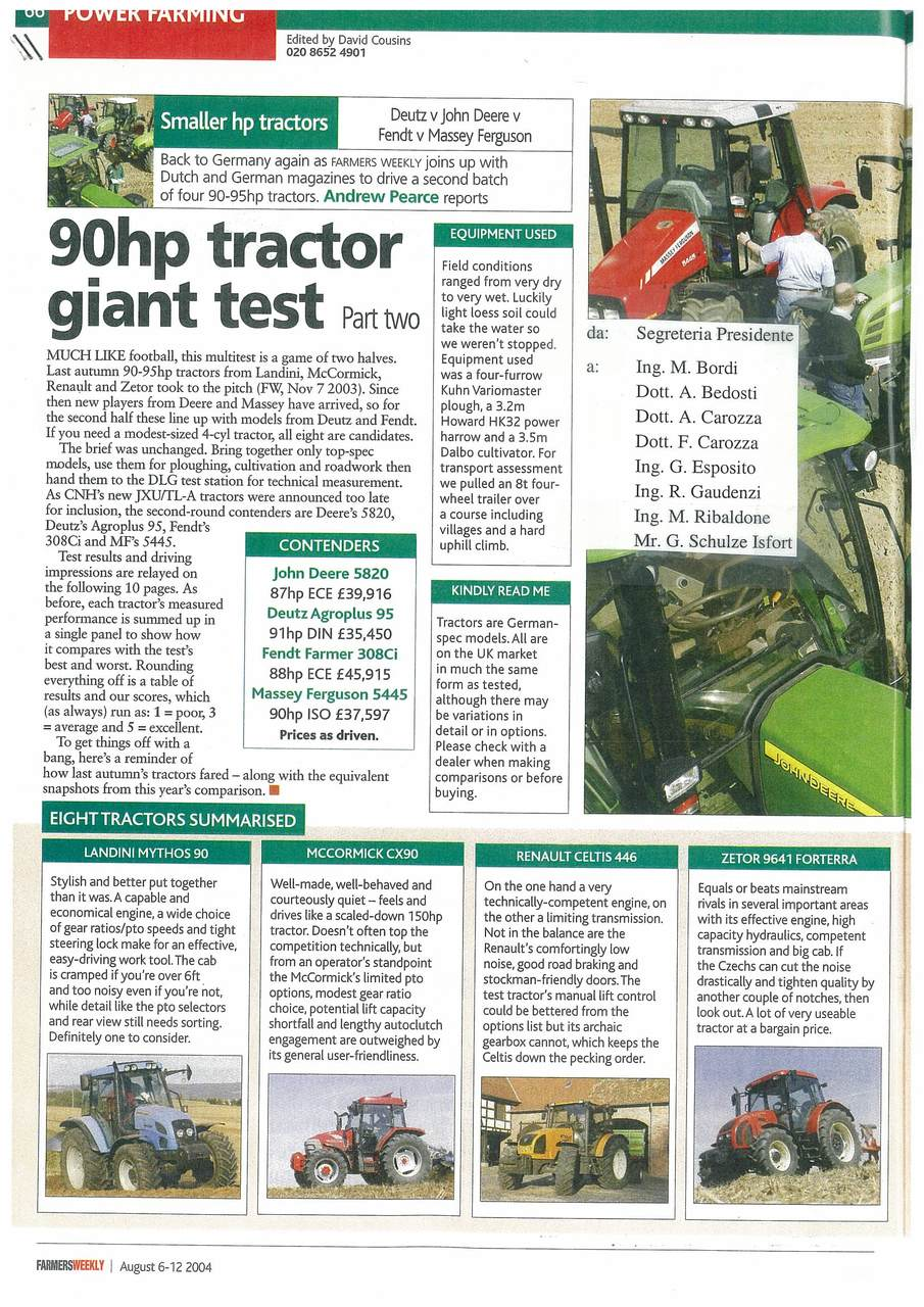 90 hp tractor giant test