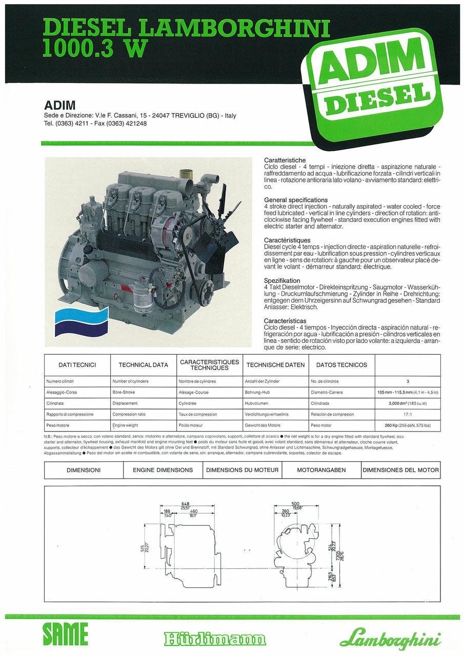 Motore 1000.3 W