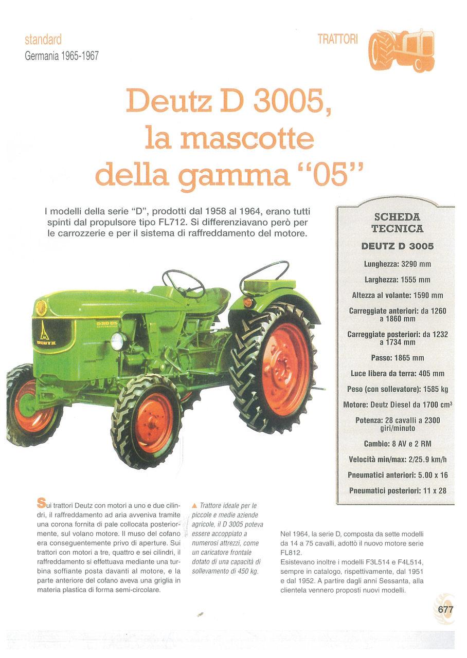 """Deutz D 3005, la mascotte della gamma """"05"""""""