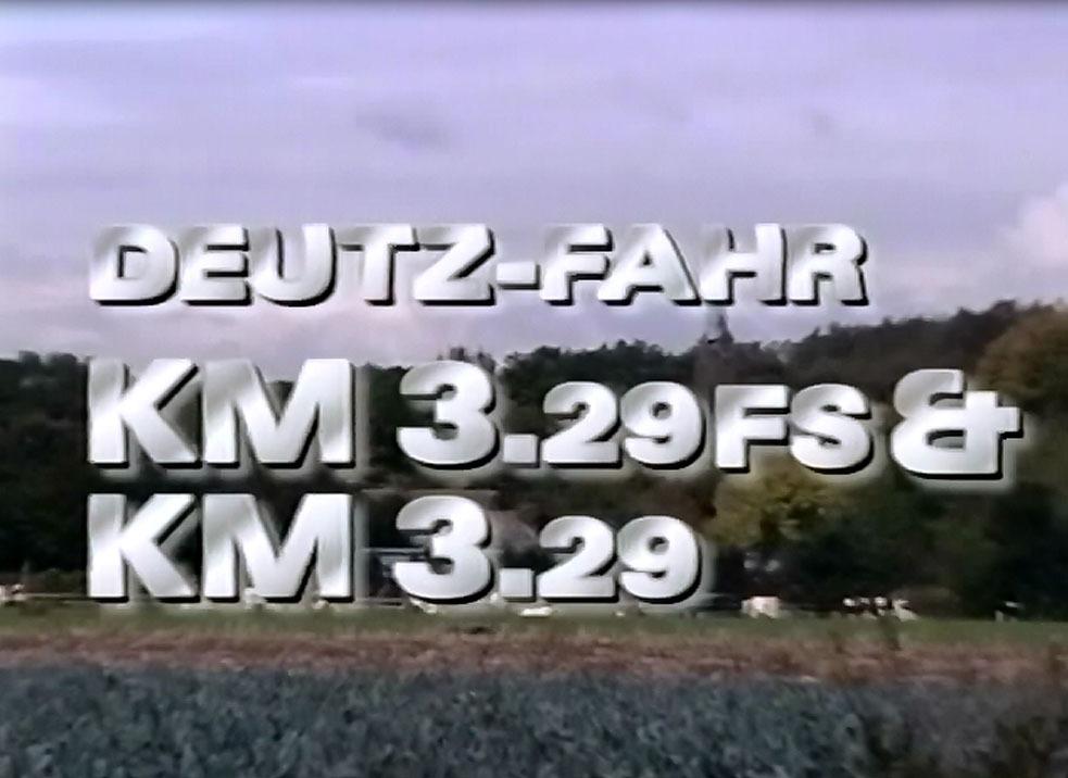 Deutz-Fahr KM 3.29 FS et KM 3.29