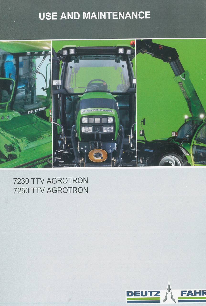 7230 TTV AGROTRON - 7250 TTV AGROTRON - Use and maintenance