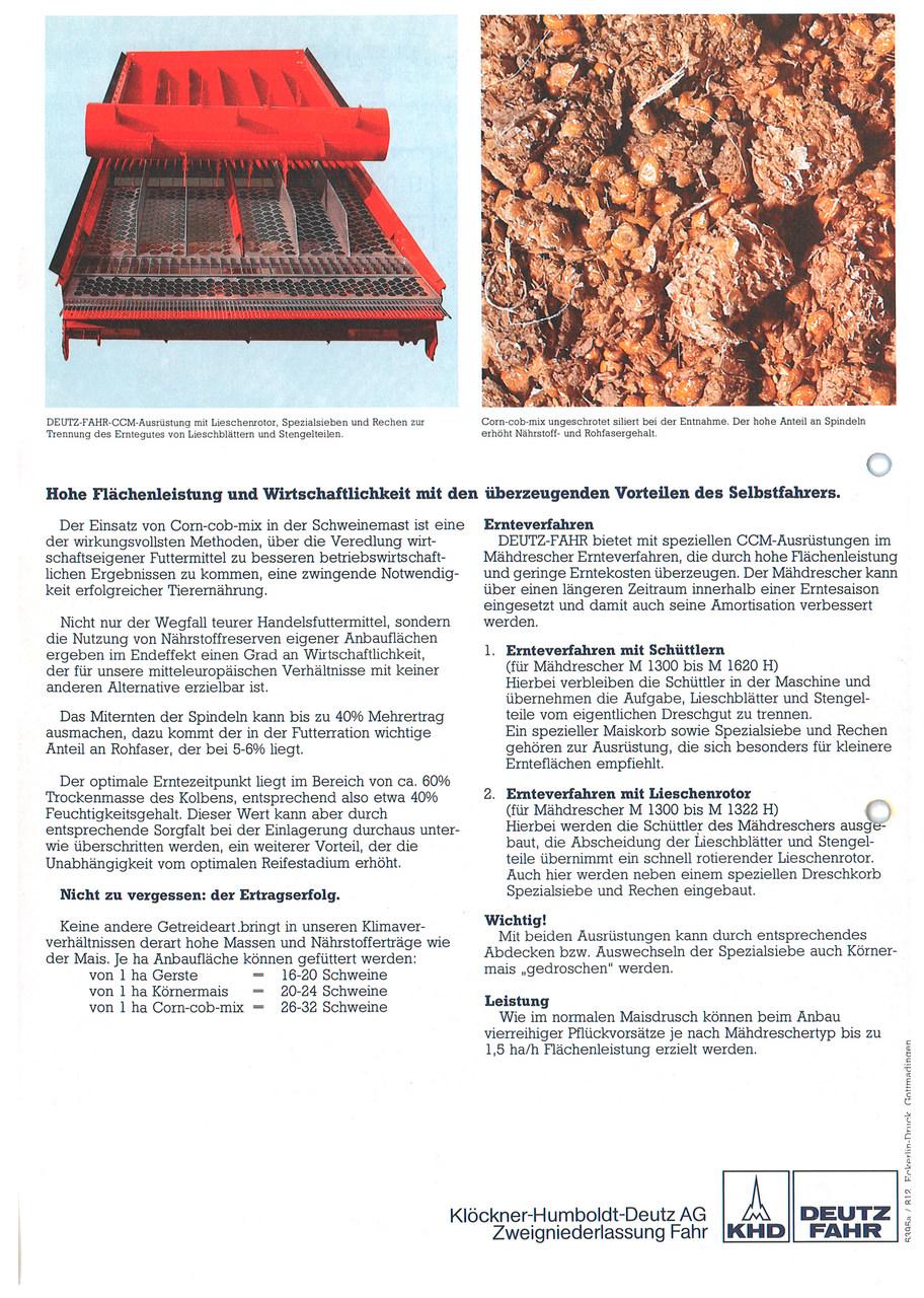 CORN-COB-MIX/ MÄHDRESCHER-SPEZIALAUSRÜSTUNG
