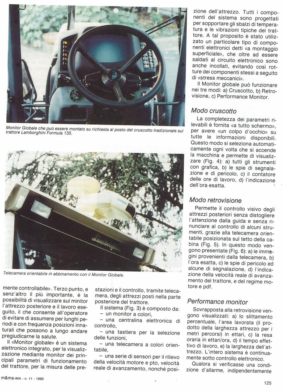 Monitor Globale per i trattori Lamborghini