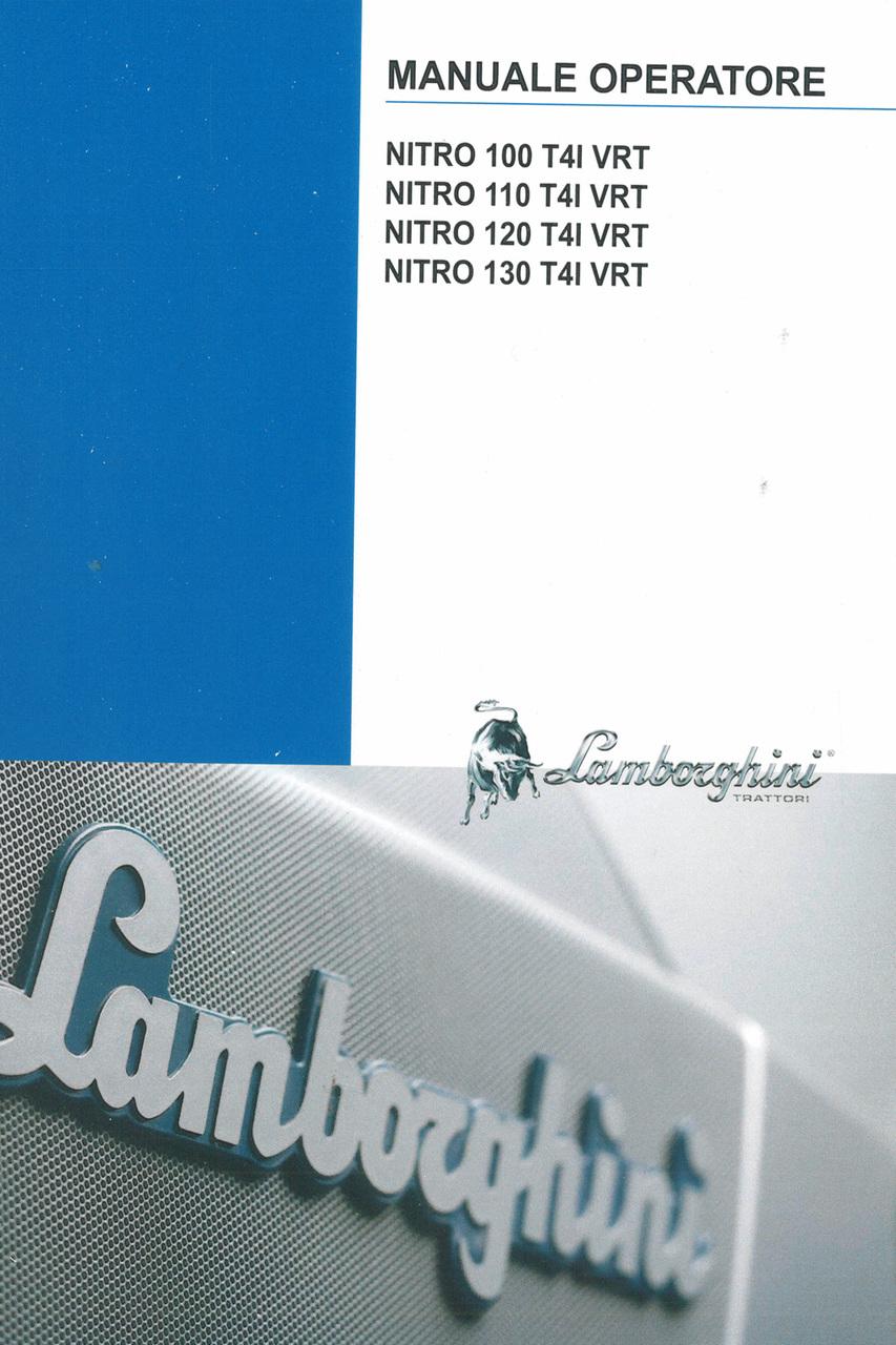 NITRO 100 T4I VRT - NITRO 110 T4I VRT - NITRO 120 T4I VRT - NITRO 130 T4I VRT - Manuale operatore