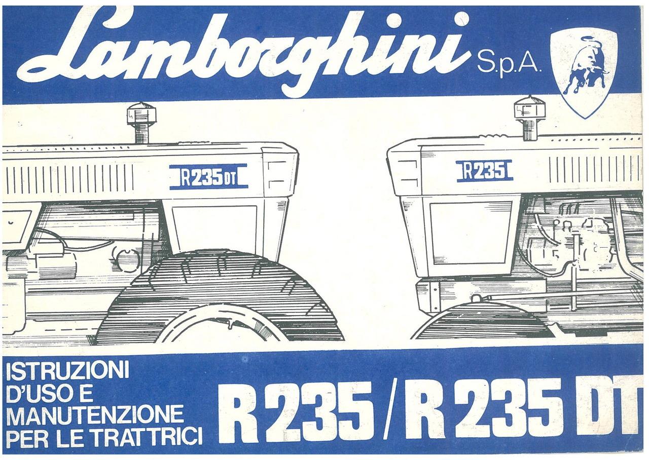 R 235 - R 235 DT - Libretto uso & manutenzione