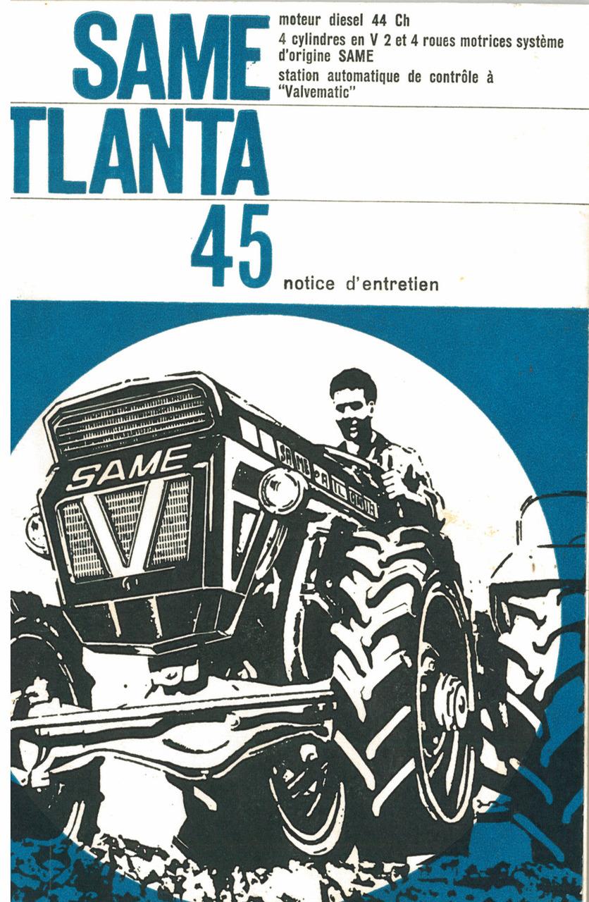 ATLANTA 45 - Notice d'entretien