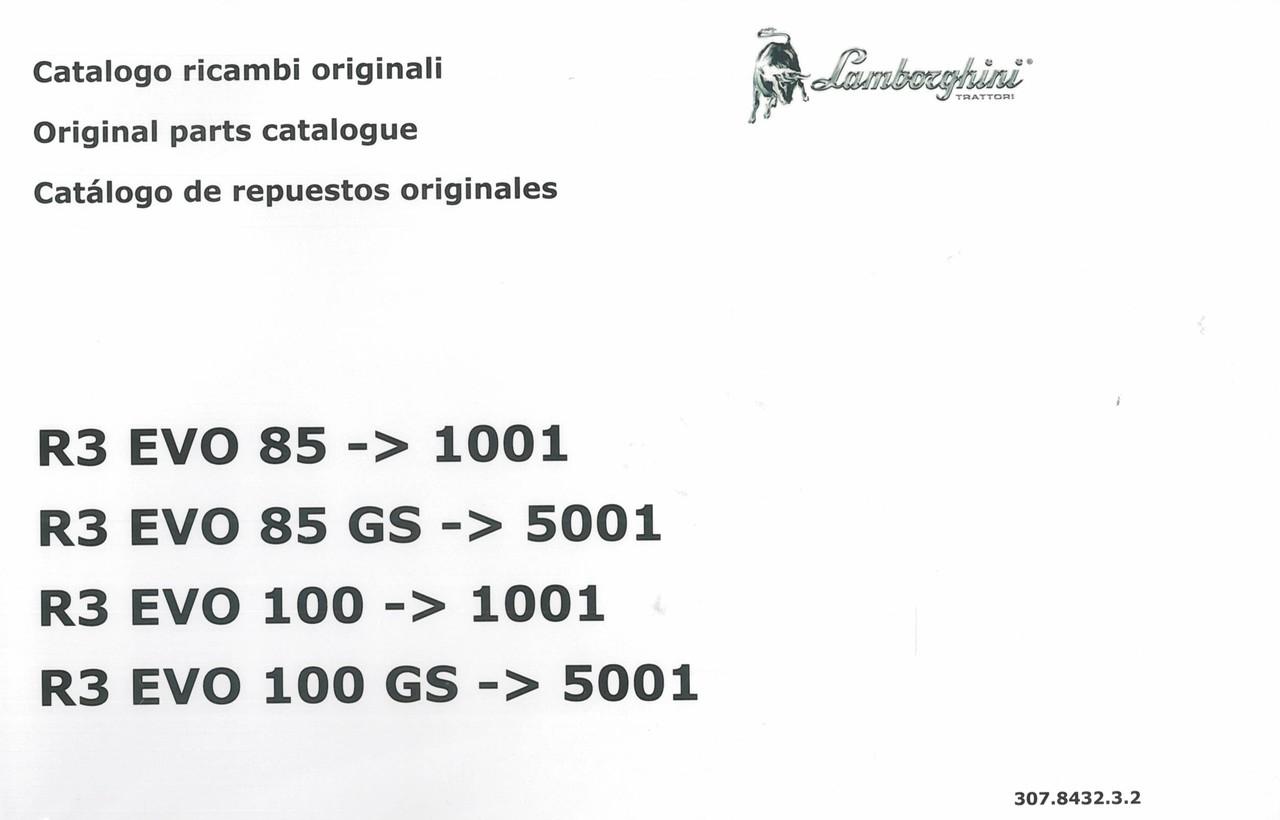 R3 EVO 85 ->1001 - R3 EVO 85 GS ->5001 - R3 EVO 100 ->1001 - R3 EVO 100 GS -> 5001 - Catalogo ricambi originali / Original sparts catalogue / Catalogo de repuestos originales