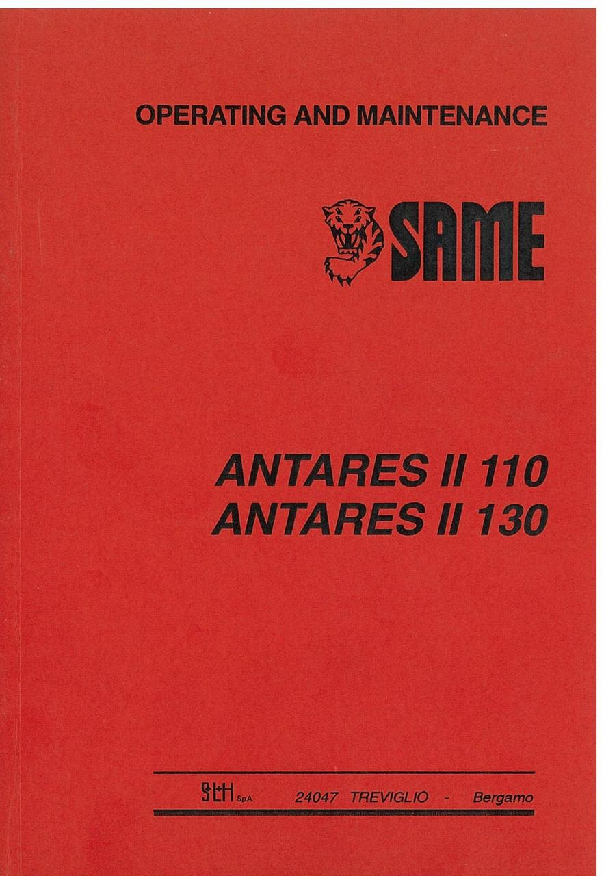 ANTARES II 110 - 130 - Operating and maintenance