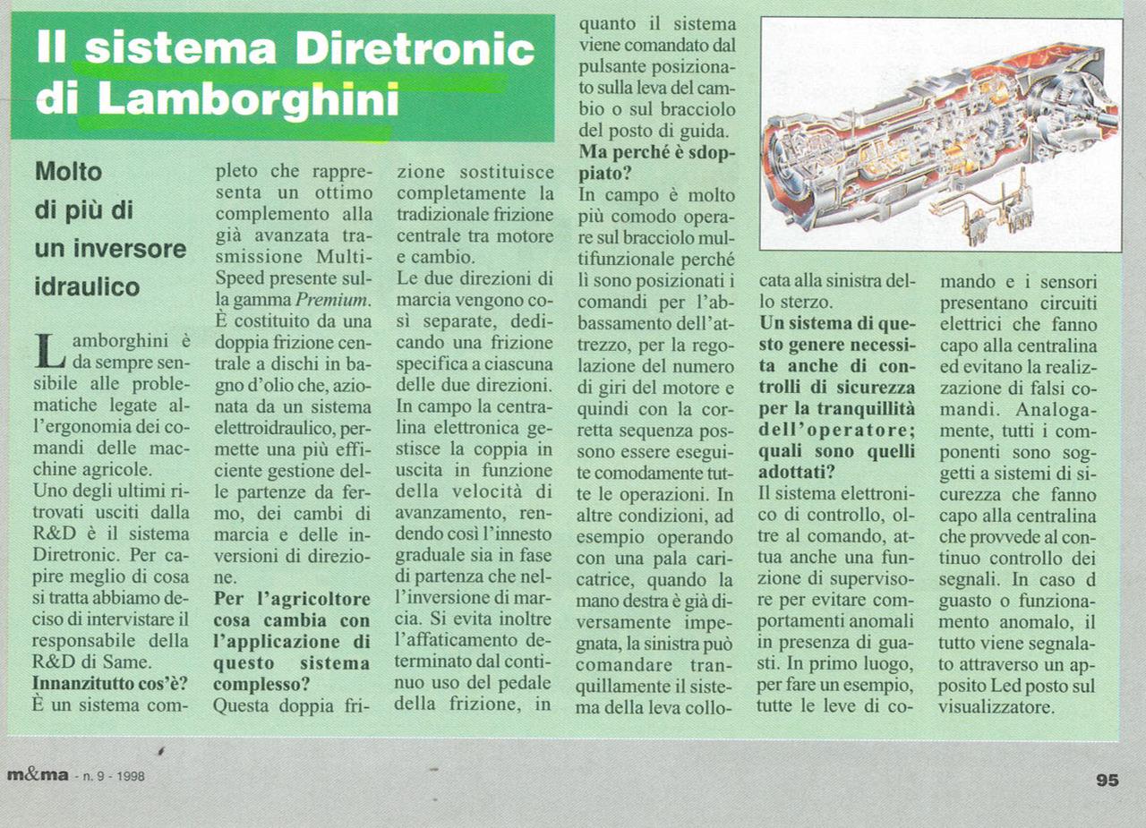 Il sistema Diretronic di Lamborghini