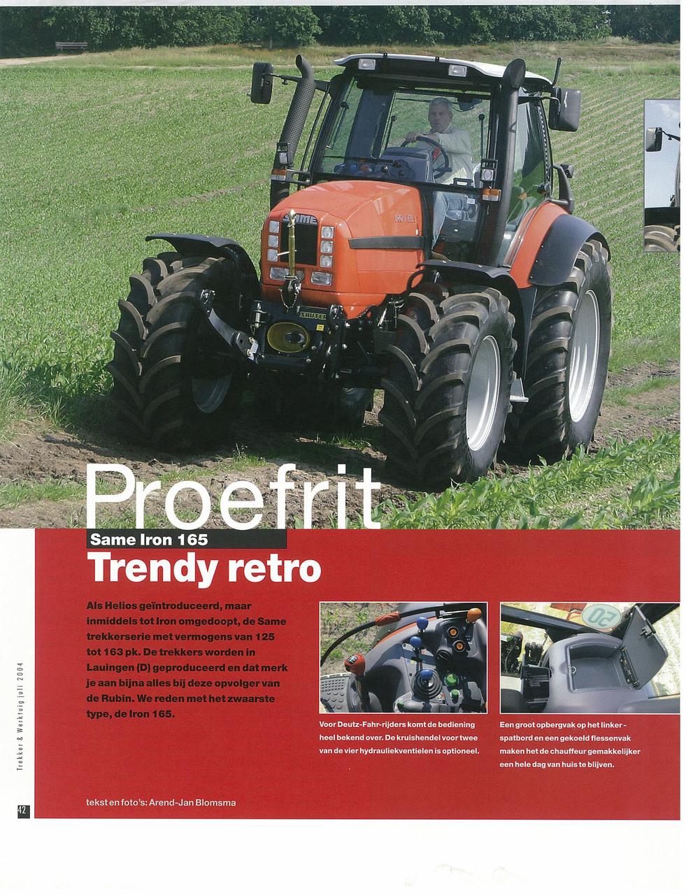 Proefrit: SAME Iron 165. Trendy retro