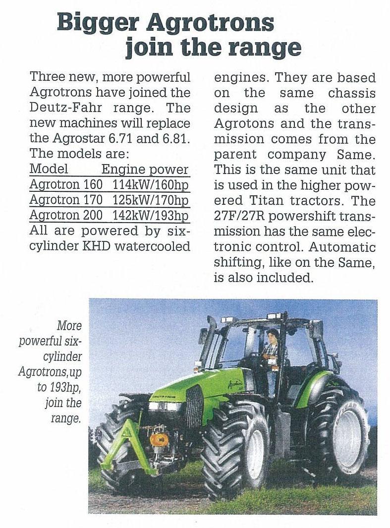 Bigger Agrotrons join the range
