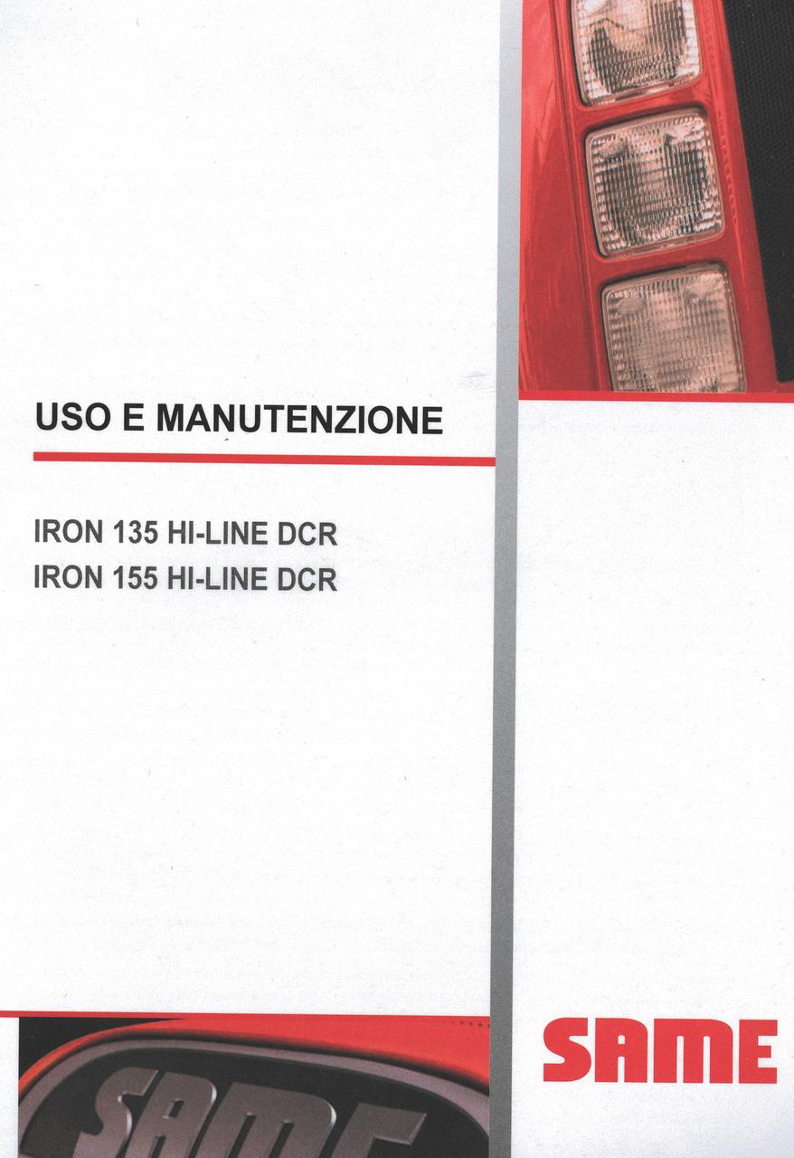 IRON 135 HI-LINE DCR - IRON 155 HI-LINE DCR - Uso e manutenzione