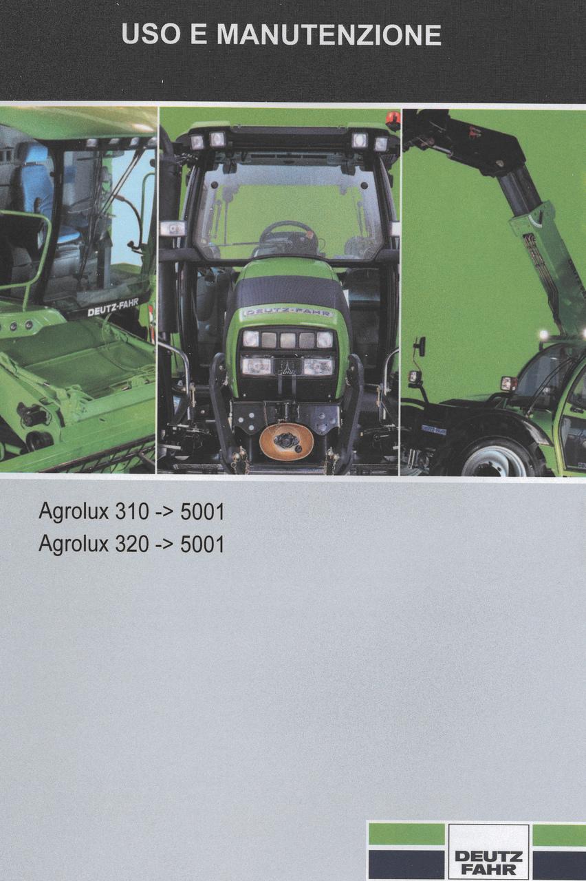 AGROLUX 310 ->5001 - AGROLUX 320 ->5001 - Uso e manutenzione