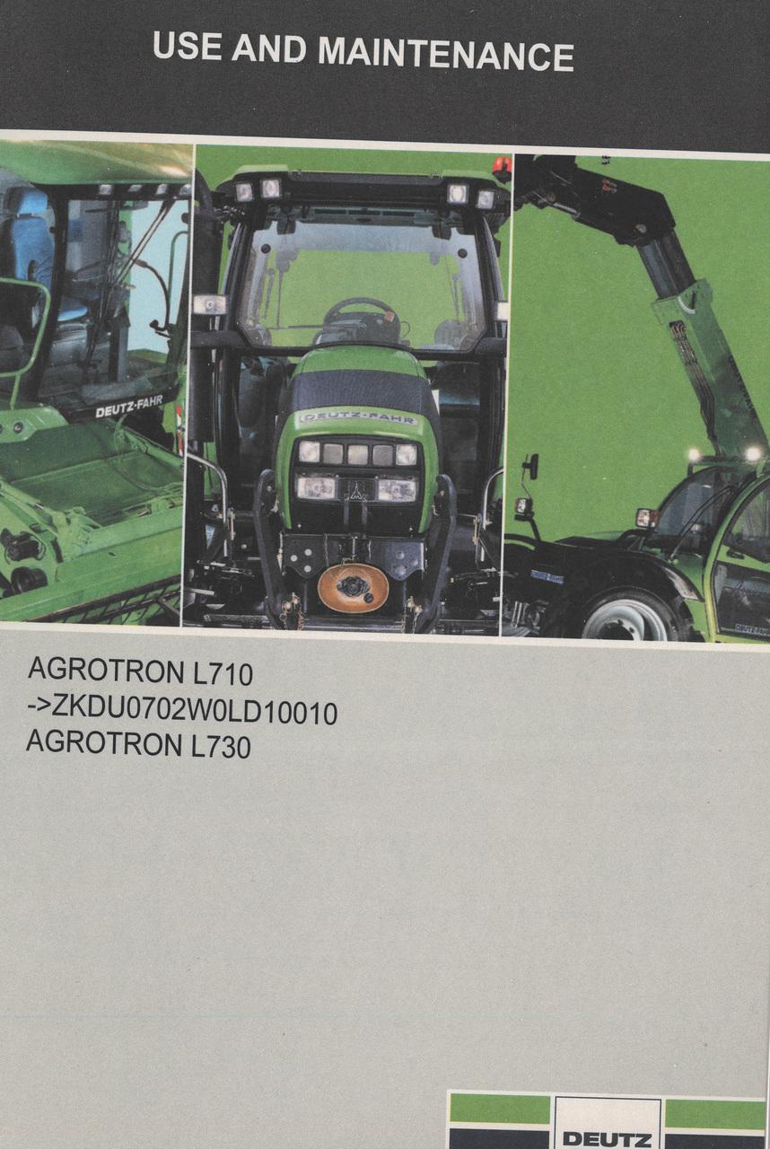 AGROTRON L710 -> ZKDU0702W0LD10010 - AGROTRON L730 - Use and maintenance