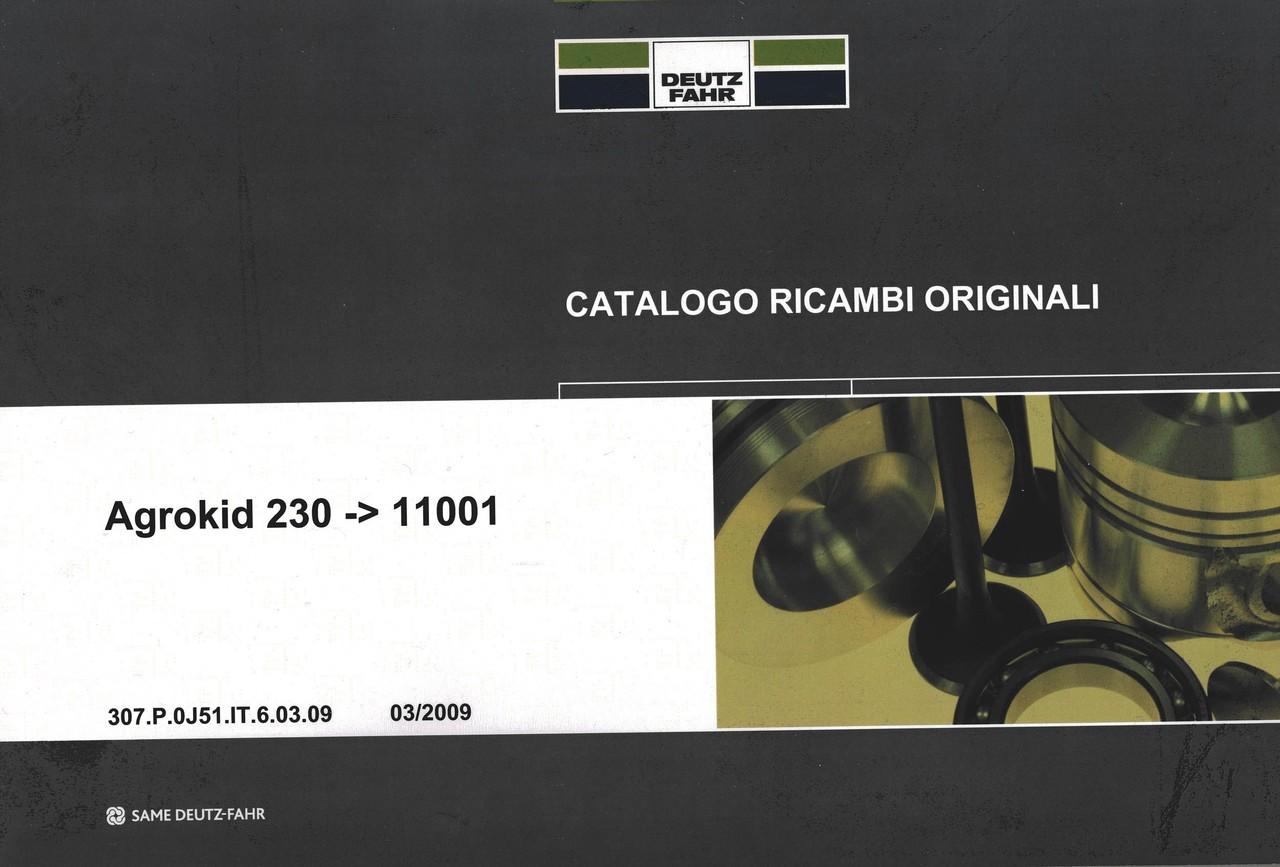 AGROKID 230 ->10001 - Catalogo ricambi originali