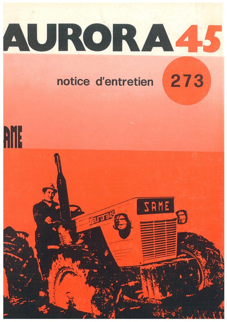 AURORA 45 - Utilisation et entretien