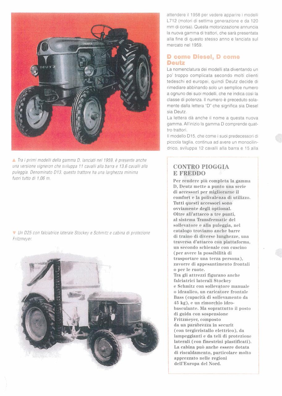 I primi trattori Deutz della gamma D