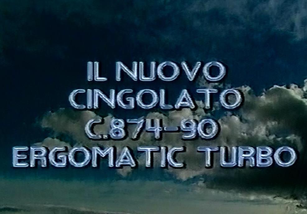Il nuovo cingolato C. 874-90 Ergomatic Turbo