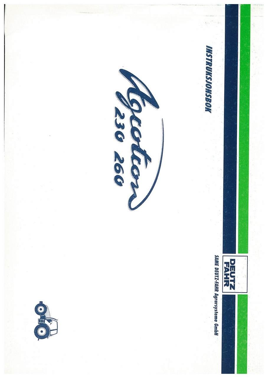 AGROTRON 230-260 - Bruk og Vedlikehold