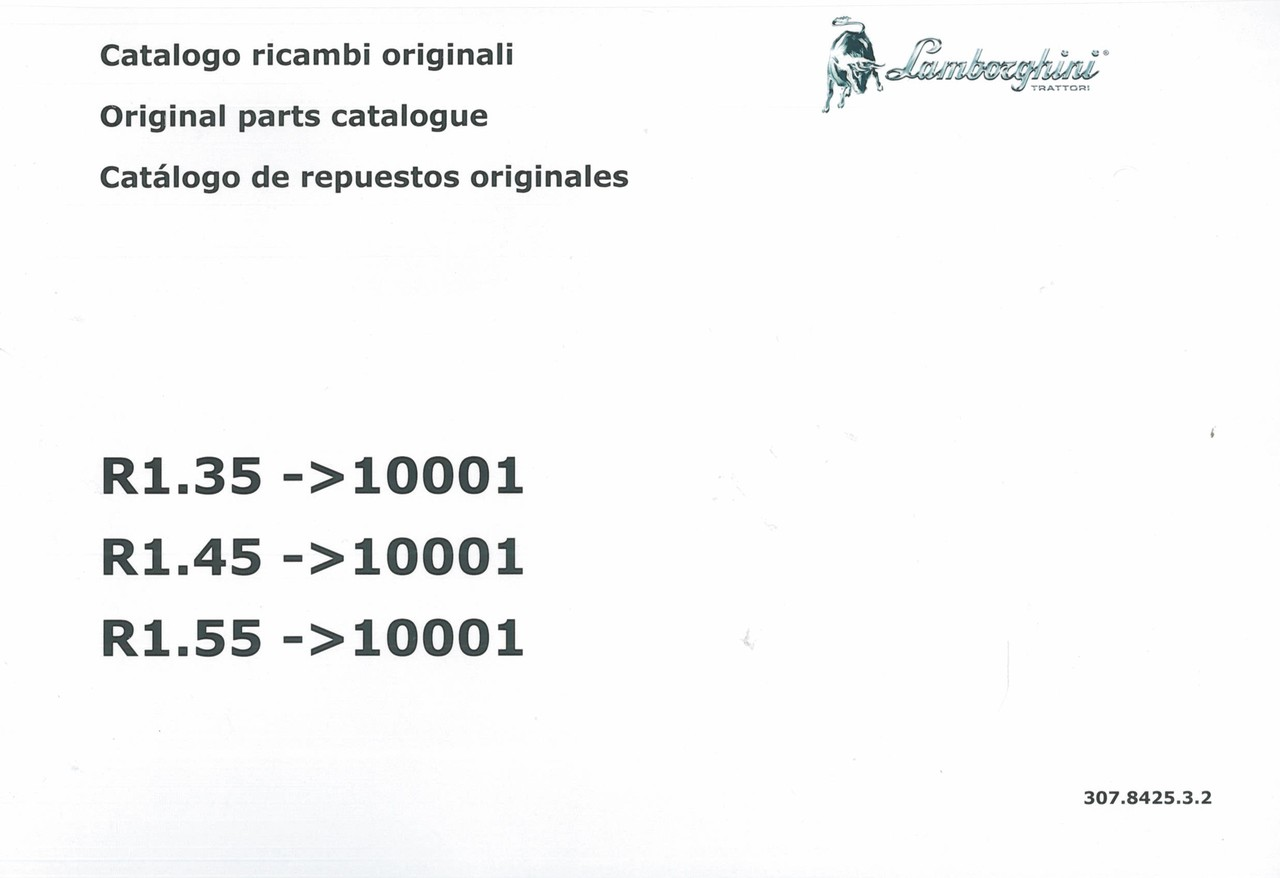 R1.35 ->10001 - R1.45 ->10001 - R1.55 ->10001 - Catalogo ricambi originali / Original parts catalogue / Catalogo de repuestos originales