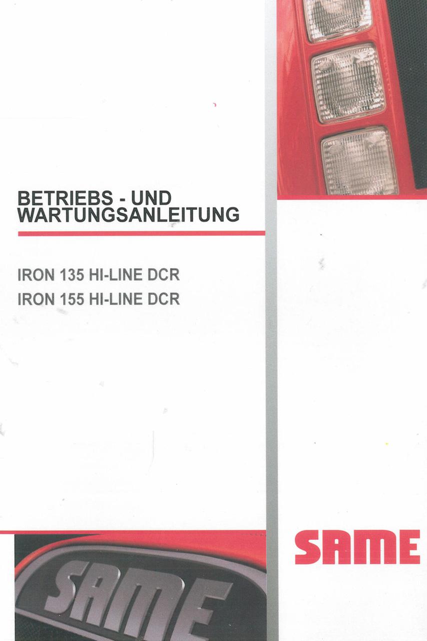 IRON 135 HI-LINE DCR - IRON 155 HI-LINE DCR - Betriebs - und Wartungsanleitung