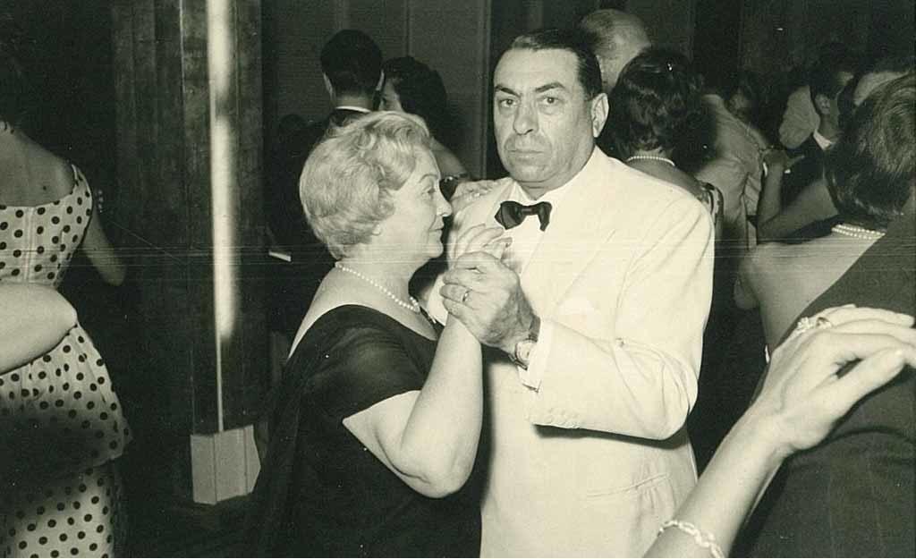 Francesco Cassani con la moglie Maria