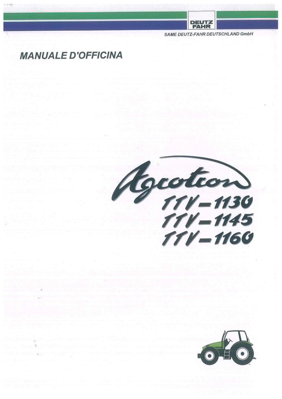AGROTRON TTV-1130-1145-1160 - Manuale d'officina