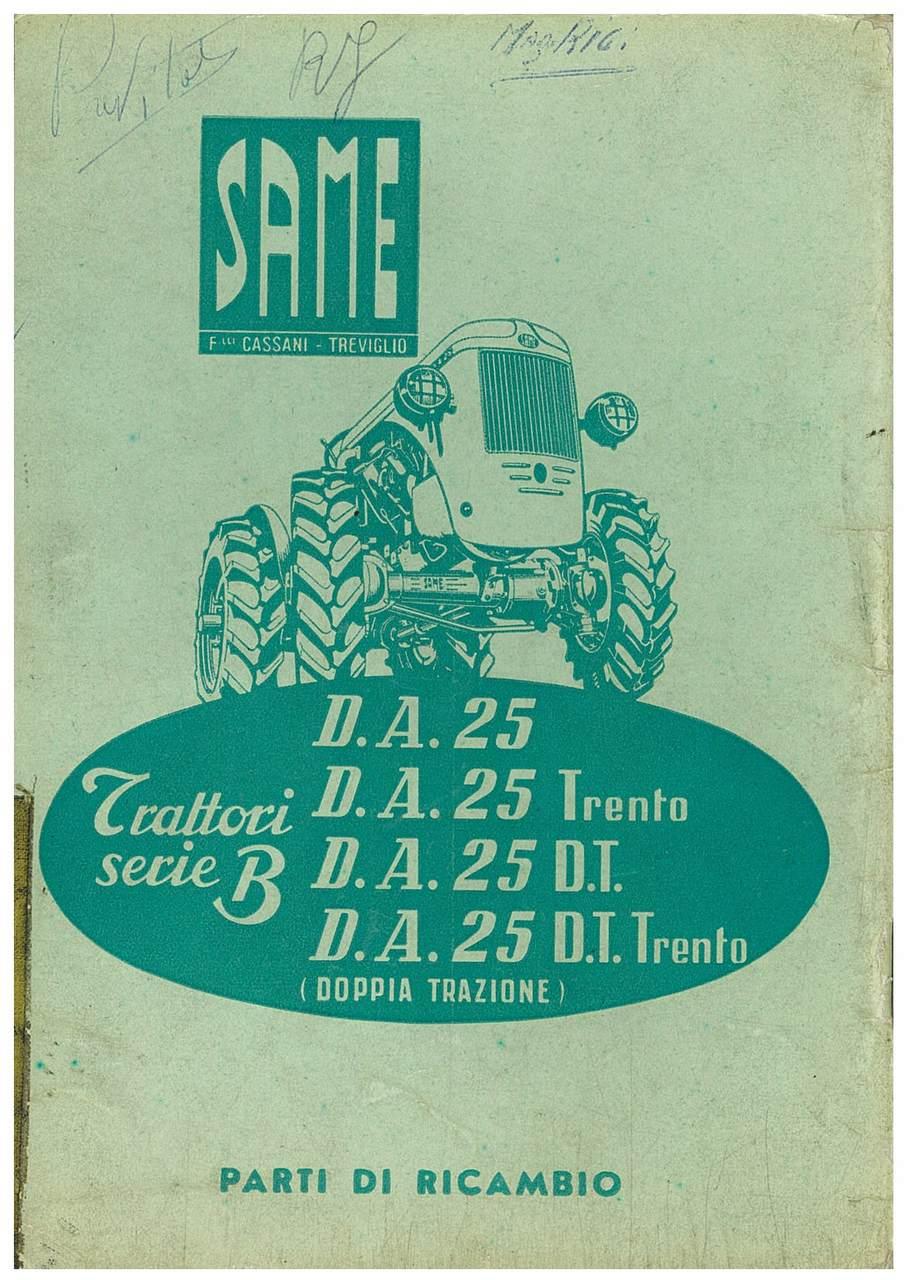 DA 25 serie B - Catalogo Parti di Ricambio